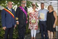Koninklijk bezoek van Prins Laurent en Prinses Claire voor nationale feestdag